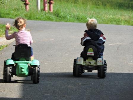 Urlaubsbericht Urlaub auf dem Bauernhof, Traktor